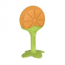 Ange - Fruit Teether Orange with Clip