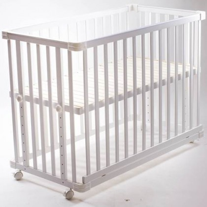 Jarrons & Co. Happy Sleep 5-in-1 Convertible Baby Cot (White)