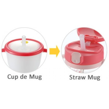 Richell - LC Straw Mug R 320ml Pink