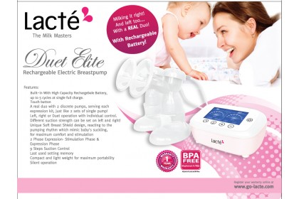 Lacte - Duet Elite Double Electric Breast Pump