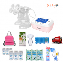 Lacte Duet Elite Rechargeable Double Electric Breast Pump Package