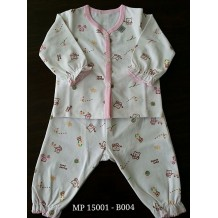 Mini Pod - Long Sleeve and Long Pants Set (Pink Bear)