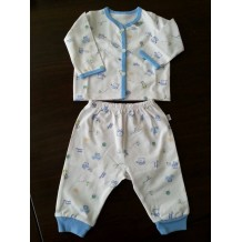 Mini Pod - Long Sleeve  Long Pants Set (Blue Bear)
