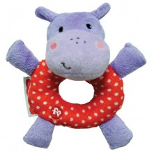 Fisher Price - Rattle Plush Hippopotamus 6""