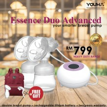 Youha - Essence Duo Advanced Breast Pump with Free Gift
