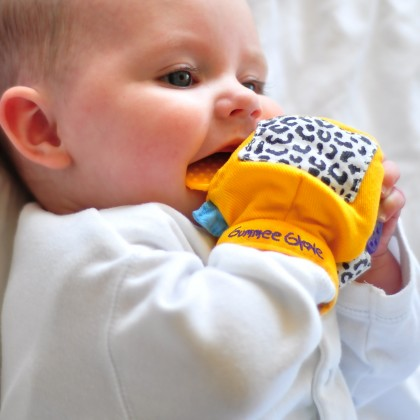 Gummee Glove Teething Mitten Yellow