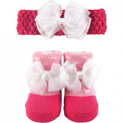 Luvable Friends - Headband & Sock Gift Set (0-9m)