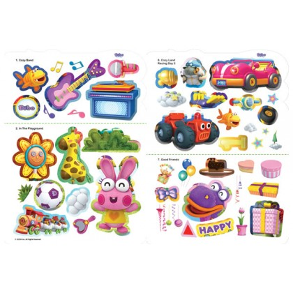Dibo - Hello, Hello, My Name Is Dibo: A Sticker Scene Book