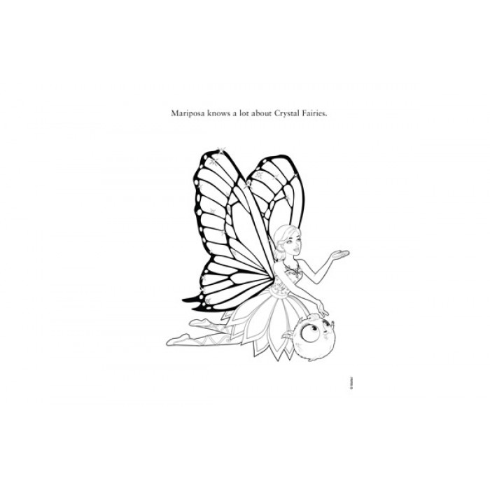 Barbie Mariposa And The Fairy Princess Royal Friends Shaped Colouring Book