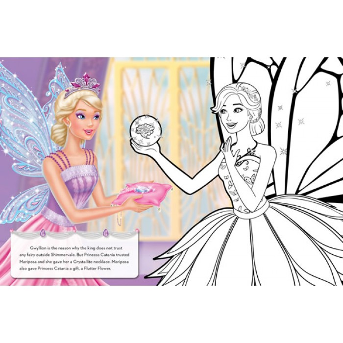 Barbie Mariposa And The Fairy Princess A Colouring Storybook
