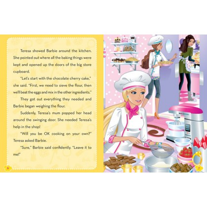 Barbie A Pastry Chef Storybook with 3D Model Scene