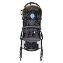 Aldo - Light Weight / Cabin Size Stroller Black Limited Edition with Bumper Bar & Cup Holder