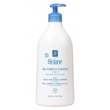Biolane 2 in 1 Body and Hair Cleanser 750ml