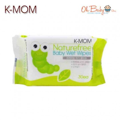 K Mom - Natural Pureness Wet Wipes 30s