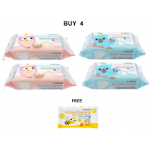 K Mom - Natural Pureness Wet Wipes (100s x 4)