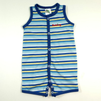 Budding - Romper Sleeveless Blue Stripe