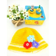 Handmade Crochet Baby Hat (Yellow)