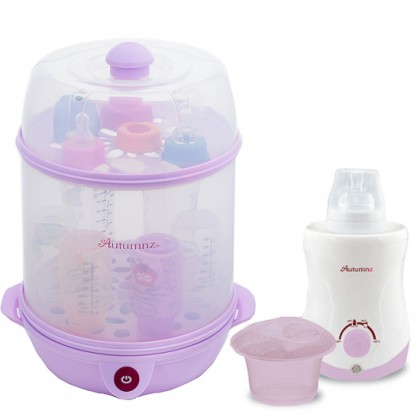 Autumnz - 2-in-1 Steriliser Steamer + Home and Car Warmer Combo (Lilac)