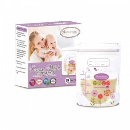 Autumnz Double ZipLock Breastmilk Storage Bag (28 bags) 5oz