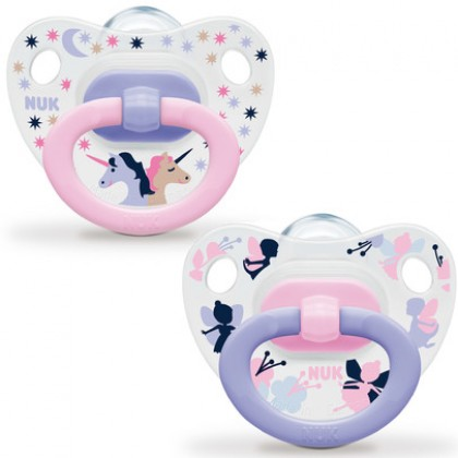 NUK Printed Soother Silicone 0-6m (2pcs)