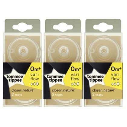 Tommee Tippee - Closer To Nature Bottle Teat (3 x 2pcs)