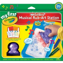 Crayola - Washable Musical Rub-Art Station