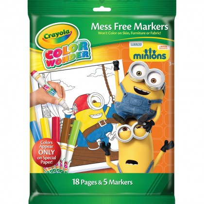 Crayola - Mess Free Marker 18 Pages & 5 Markers