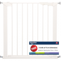 BabyDan - Premier Pressure Indicator Safety Gate (White) with 2 Extention