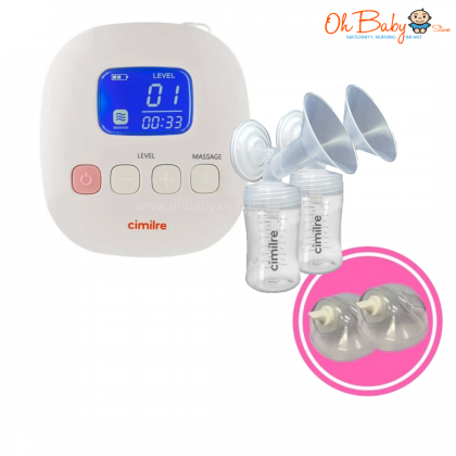 Cimilre F1 Rechargeable Double Breast Pump Free Cimilre Hands Free Kit