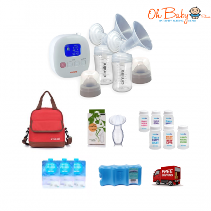 Cimilre F1 Rechargeable Double Breast Pump Package