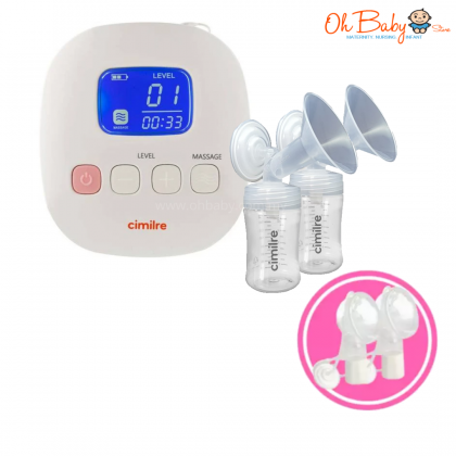 Cimilre - F1 Rechargeable Double Breast Pump With Cimilre Handsfree Breast Shield Set