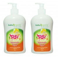 Baby Organix - Extra Gentle Top To Toe Cleanser 400ml (Rose) Twin