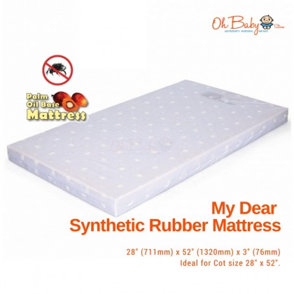 "My Dear - Synthetic Rubber Mattress 28""x52""x3"""