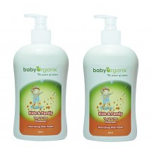 Baby Organix - Kids & Family Top To Toe Cleanser 400ml (Peach) Twin