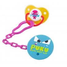 Puku - Baby Pacifier and Clip Set 0m+