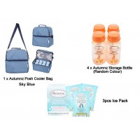 Autumnz - Posh Cooler Bag Package with Free Gift (Sky Blue)
