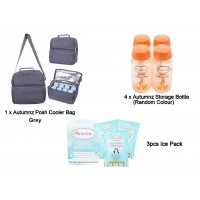 Autumnz - Posh Cooler Bag Package with Free Gift (Grey)