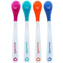 Munchkin - White Hot Safety Spoons 4pcs