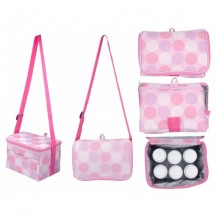 Autumnz - Fun Foldaway Cooler Bag (Pink Polka)