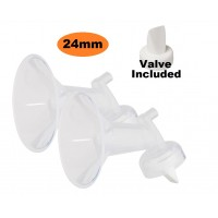 Cimilre - Wide Neck Breast Shield with Valve (24mm x 2)