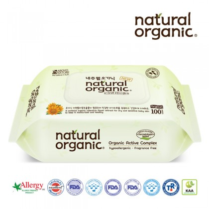 Natural Organic - Original Baby Wipes 100s
