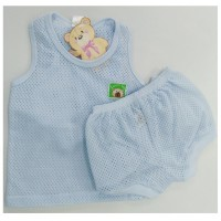 Sweetie Baby - Eyelet Sleeveless A (Blue)