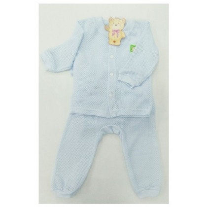 Sweetie Baby - Eyelet Long Sleeve and Long Pant (Blue)