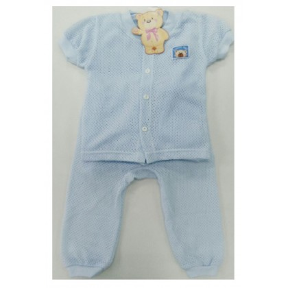 Sweetie Baby - Eyelet Short Sleeve and Long Pant (Blue)