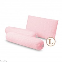 Comfy Baby - Bolster & Pillow Set Pink Dot (L)