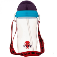 Puku - Space Silding Cover Baby Canteen 340ml (Blue)