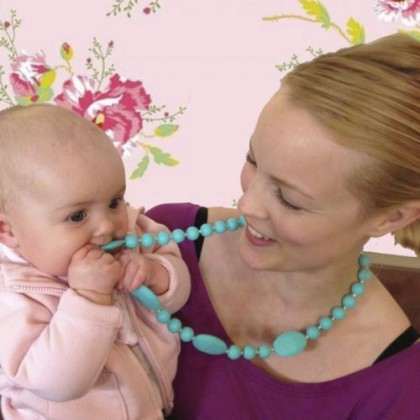 Baby Moo - Baby Teething Necklace Scarlet