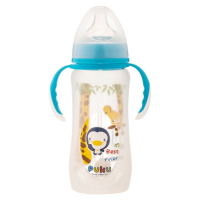 Puku - Glass Wide Neck Training Bottle With Silicone Protector 250ml