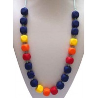 ​ Baby Moo - Baby Teething Necklace Navy
