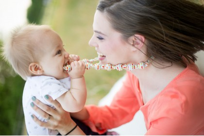  Baby Moo - Baby Teething Necklace Sunny
